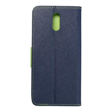 Pouzdro Fancy Book Nokia 2.3 tmavě modré/limetkové