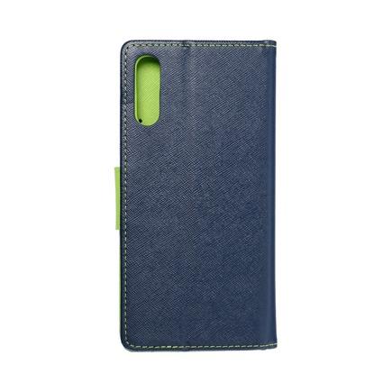 Pouzdro Fancy Book Samsung A70 / A70s tmavě modré/limetkové