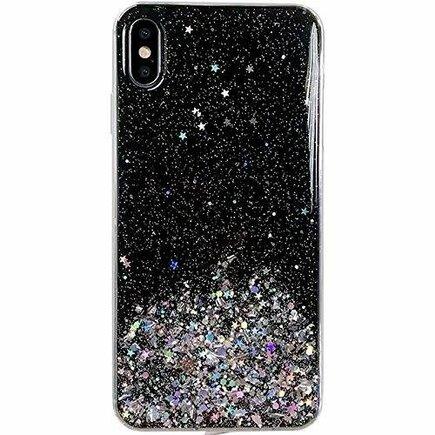 Star Glitter lesklé pouzdro s brokátem iPhone 8 Plus / iPhone 7 Plus černé
