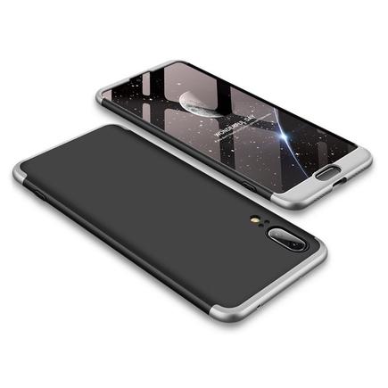 360 Protection pouzdro na přední i zadní část telefonu Huawei P20 černo-stříbrné