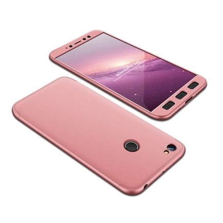360 Protection pouzdro na přední i zadní část telefonu Xiaomi Redmi Note 5A Prime růžové