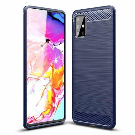Carbon Case elastické pouzdro Samsung Galaxy A51 modré