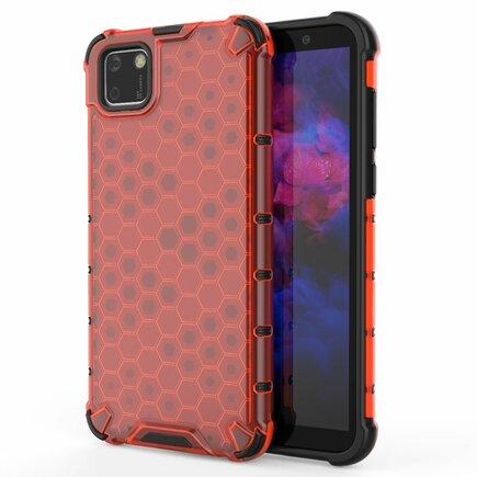 Honeycomb pancéřové pouzdro s gelovým rámem Huawei Y5p červené