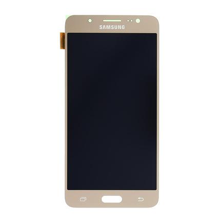 LCD display + Dotyk zlatý pro Samsung J510 Galaxy J5 2016 (Service Pack)
