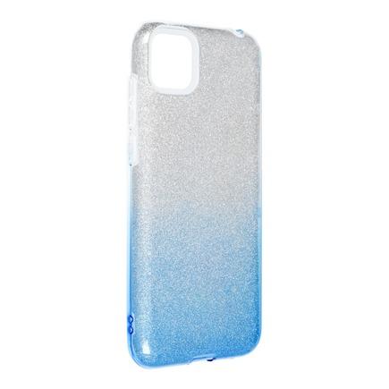 Pouzdro Shining Huawei Y5P průsvitné/modré