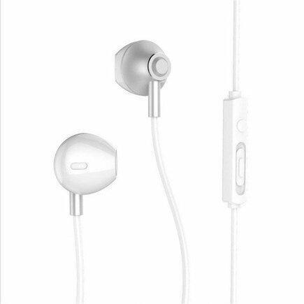 RM-711 sluchátka do uši s ovládáním a mikrofonem stříbrná