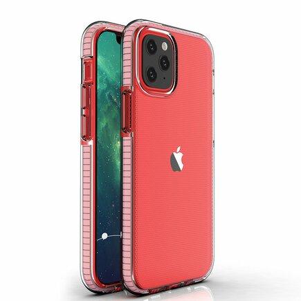 Spring Case gelové pouzdro s barevným rámem iPhone 12 mini světle růžové
