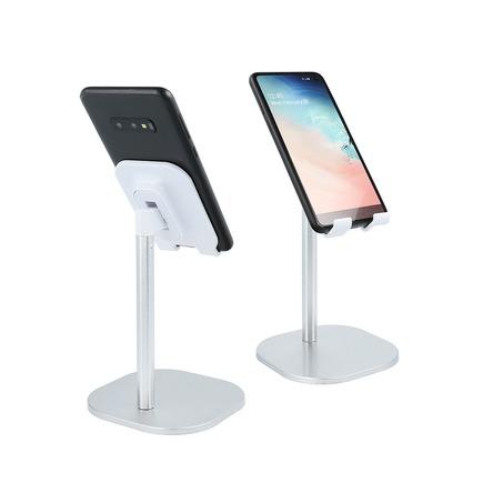 Teleskopický stolní držák pro mobilní telefon stříbrný