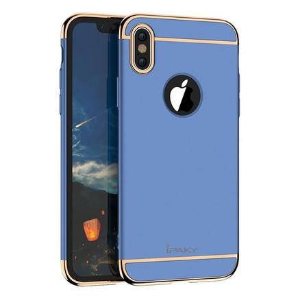 3 in 1 elegantní 3-dílné pouzdro iPhone X modré