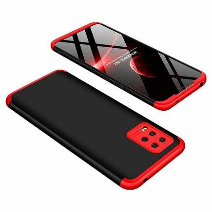 360 Protection Case pouzdro na přední i zadní část telefonu Xiaomi Mi Note 10 Lite černo/červené