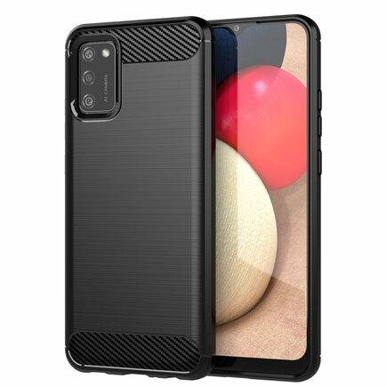 Carbon Case elastické pouzdro Samsung Galaxy A02s černé