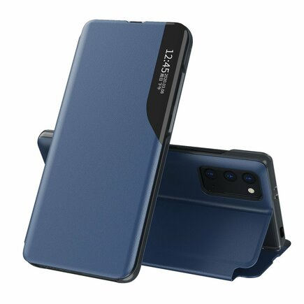 Eco Leather View Case elegantní pouzdro s klapkou a funkcí podstavce Xiaomi Poco M3 / Xiaomi Redmi 9T modré