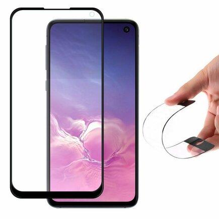 Full Cover Flexi Nano skleněná fólie s rámem Samsung Galaxy S10 Lite černá