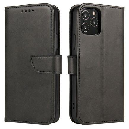 Magnet Case elegantní pouzdro s klapkou a funkcí podstavce Huawei P Smart 2021 černé