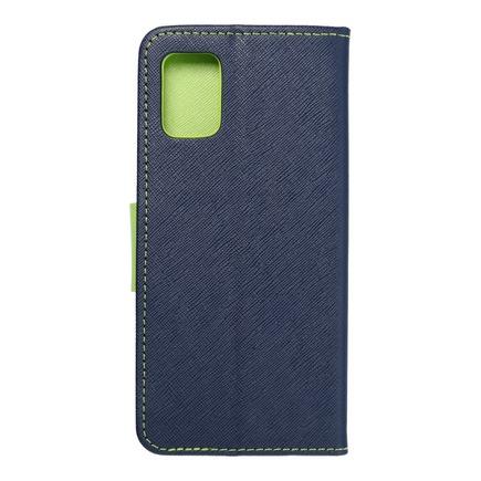 Pouzdro Fancy Book Samsung A51 5G tmavě modré/limetkové