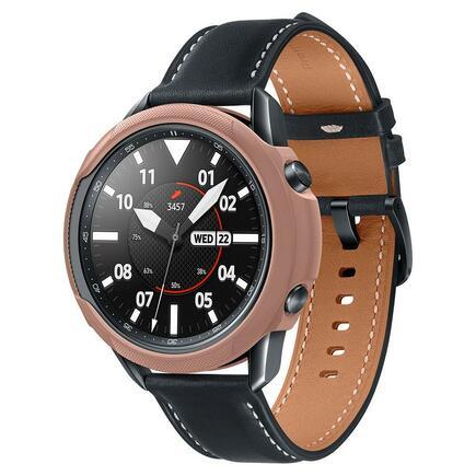 Pouzdro Liquid Air Galaxy Watch 3 45mm hnědé