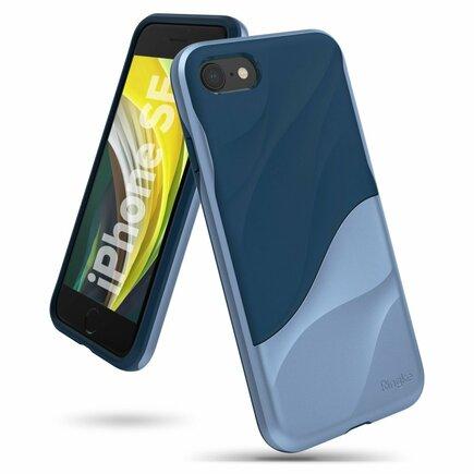 Ringke Wave hybridní gelové pouzdro s rámem iPhone SE 2020 / iPhone 8 / iPhone 7 modré (WVAP0026)