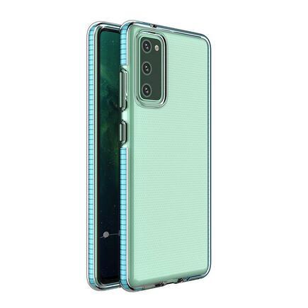 Spring Case gelové pouzdro s barevným rámem Samsung Galaxy S21 5G modré