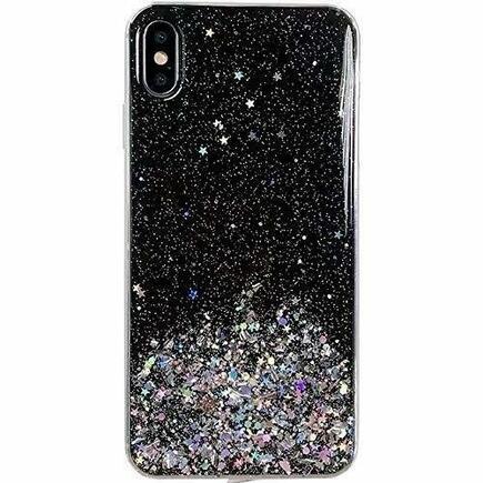 Star Glitter lesklé pouzdro s brokátem Samsung Galaxy A41 černé