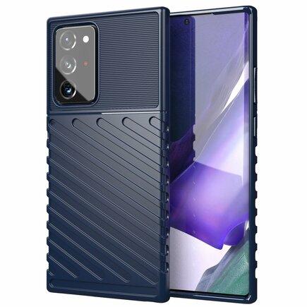 Thunder Case elastické pancéřové pouzdro Samsung Galaxy Note 20 Ultra modré