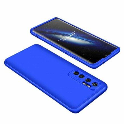 360 Protection Case pouzdro na přední i zadní část telefonu Xiaomi Mi 10 Lite modré