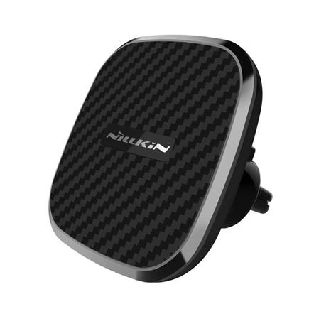 Car Magnetic Wireless Charger II-Model B - bezdrátová nabíječka Qi + magnetický držák do auta (Fast Charge Edition) MC027 černá
