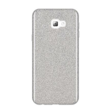 Glitter Case lesklé pouzdro s brokátem Samsung Galaxy J4 Plus 2018 J415 stříbrné