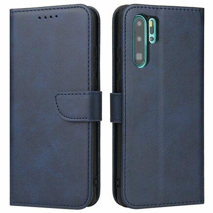 Magnet Case elegantní pouzdro s klapkou a funkcí podstavce Huawei P30 Pro modré