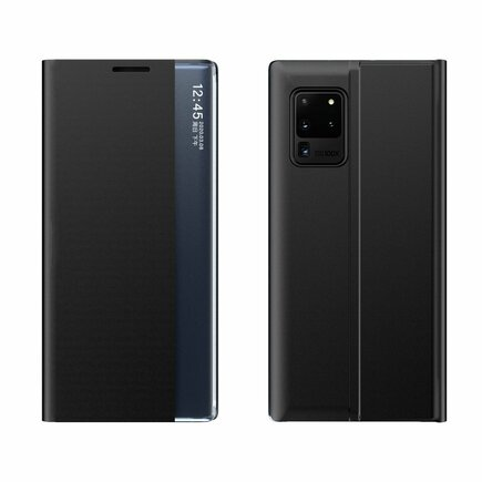 New Sleep Case pouzdro s klapkou s funkcí podstavce Samsung Galaxy A02s černé