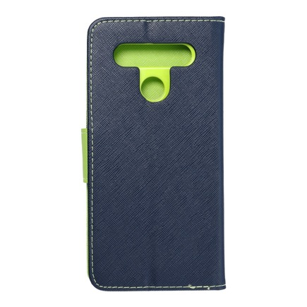 Pouzdro Fancy Book LG K51s tmavě modré/limetkové