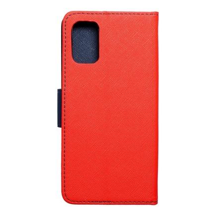 Pouzdro Fancy Book Samsung A02S červené/tmavě modré