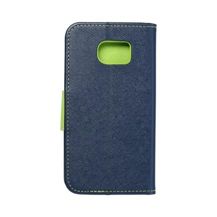 Pouzdro Fancy Book Samsung Galaxy S6 Edge tmavě modré/limetkové