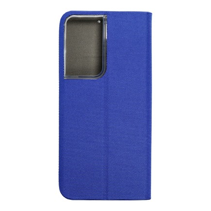 Pouzdro SENSITIVE Book pro Samsung S21 Ultra modré