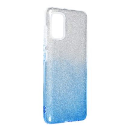 Pouzdro Shining Samsung Galaxy A41 průsvitné/modré