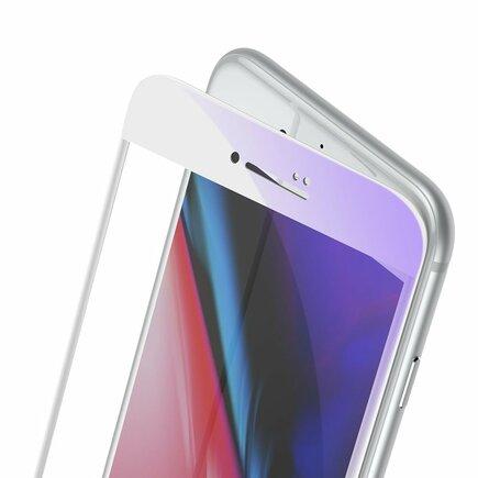 Sklo na celý displej Full Screen s rámem 0.23mm 9H Anti-bluelight iPhone SE 2020 / iPhone 8 / iPhone 7 bílé (SGAPIPH8N-HPE02)