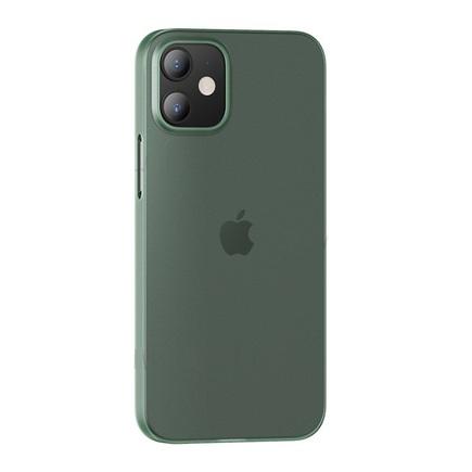 Soft PP Pouzdro pro iPhone 12 Mini Gentle Series průsvitné/zelené