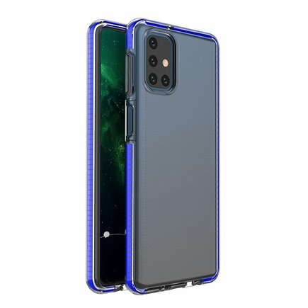 Spring Case gelové pouzdro s barevným rámem Samsung Galaxy M51 modré