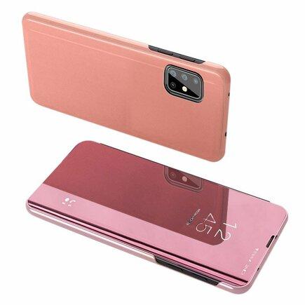 Clear View Case pouzdro s klapkou Samsung Galaxy A71 5G růžové