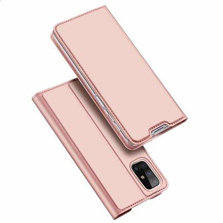 DUX DUCIS Skin Pro pouzdro s klapkou Samsung Galaxy M31s růžové