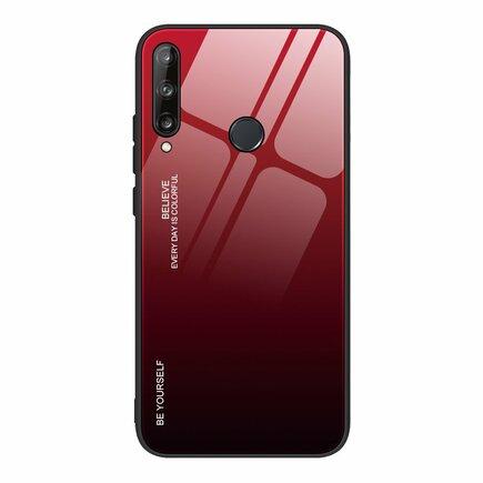 Gradient Glass pouzdro z tvrzeného skla Huawei P40 Lite E černo/červené