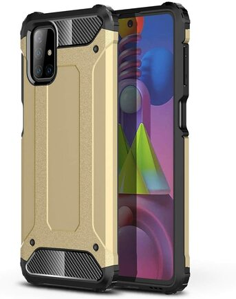 Hybrid Armor pancéřové hybridní pouzdro Samsung Galaxy M51 zlaté
