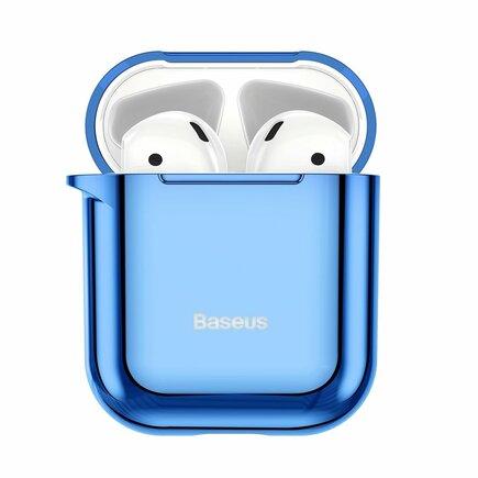 Lesklé silikonové pouzdro pro sluchátka AirPods 2gen / 1gen modré (ARAPPOD-A03)