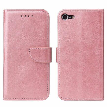 Magnet Case elegantní pouzdro s klapkou a funkcí podstavce iPhone SE 2020 / iPhone 8 / iPhone 7 růžové