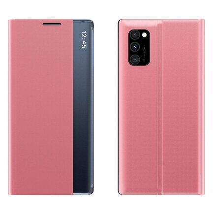 New Sleep Case pouzdro s klapkou s funkcí podstavce Samsung Galaxy A51 / Galaxy A31 růžové