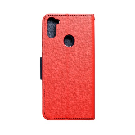 Pouzdro Fancy Book Samsung A11 červené/tmavě modré