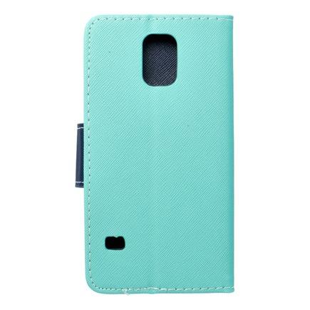 Pouzdro Fancy Book Samsung Galaxy S5 (G900) mátově zelené/tmavě modré