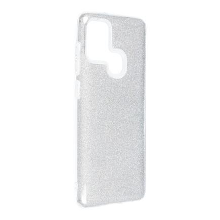 Pouzdro Shining Samsung Galaxy A21S stříbrné