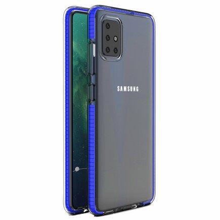 Spring Case gelové pouzdro s barevným rámem Samsung Galaxy A51 tmavě modré