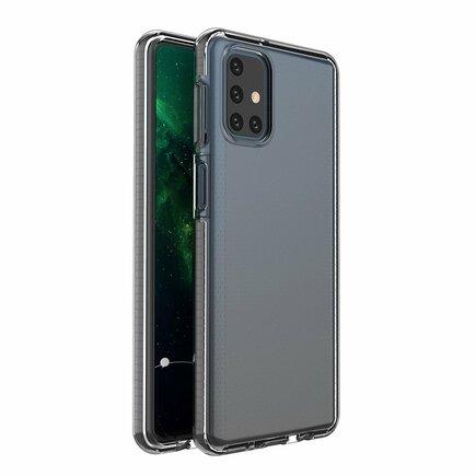 Spring Case gelové pouzdro s barevným rámem Samsung Galaxy M31s černé