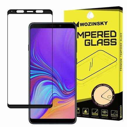 Super odolné tvrzené sklo Full Glue přes celý displej s rámem Case Friendly Samsung Galaxy A9 2018 A920 černé